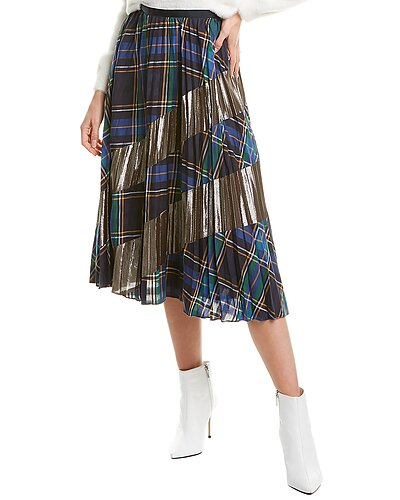 Rue La La — Tanya Taylor Reyna Silk-Blend A-Line Skirt