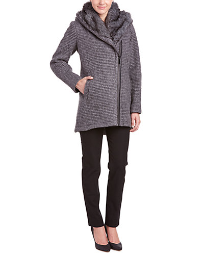 Vince Camuto Quilted Oversized Wool-Blend Coat
