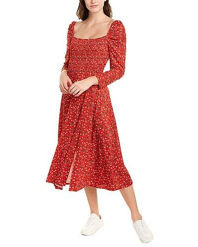 Rue La La — Alexia Admor Smocked Midi Dress
