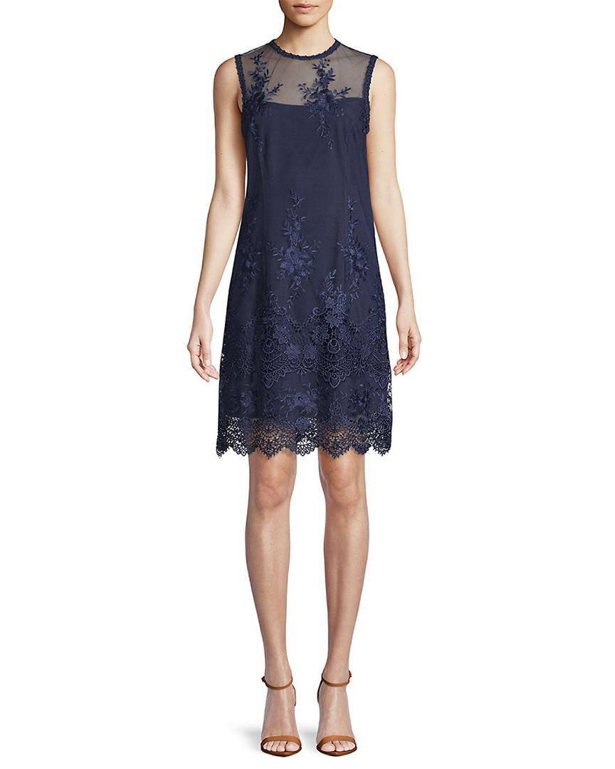 Nanette Lepore NANETTE BY NANETTE LEPORE SAVANNAH LACE MOCK NECK SLEEVELESS DRESS