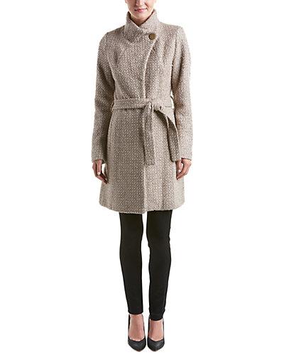 T Tahari Isabella Wool-Blend Coat