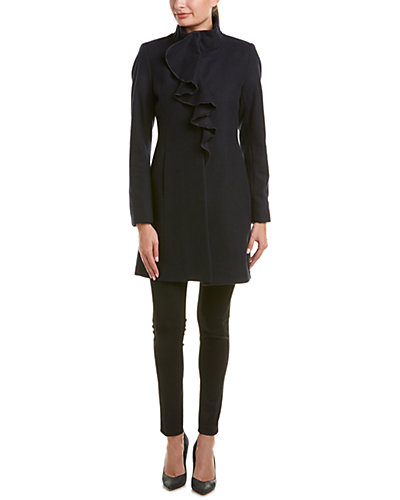 T Tahari Kate Wool-Blend Coat