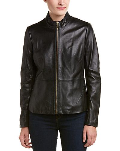 Via Spiga Leather Jacket