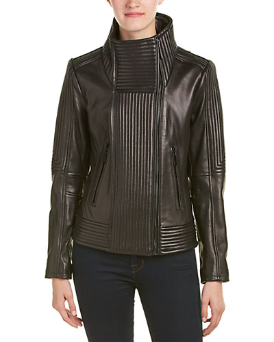 Vince Camuto Quilted Leather Jacket