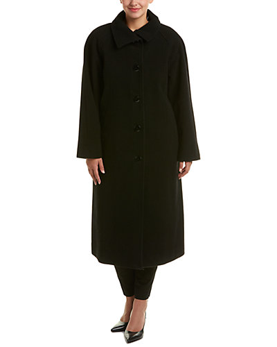 Ellen Tracy Plus Wool-Blend Coat