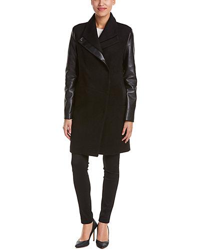 Vera Wang Taylor Wool-Blend Coat