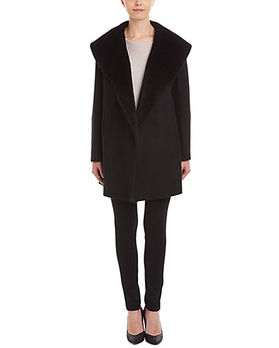 Caruana Wool & Cashmere-Blend Open Front Coat