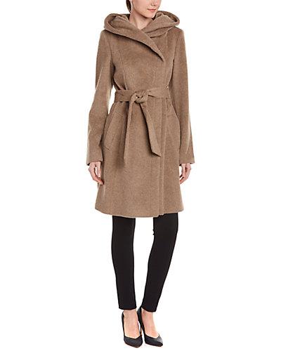 Cole Haan Wool & Alpaca-Blend Hooded Coat