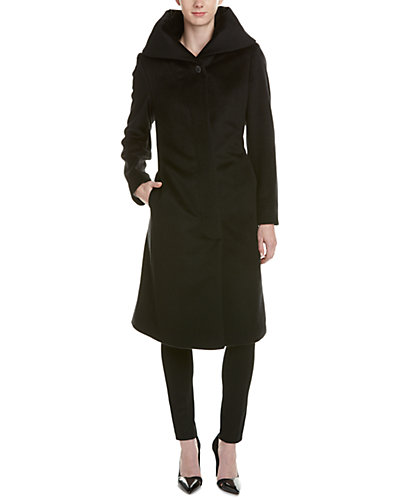 Cole Haan Wool & Silk-Blend Coat