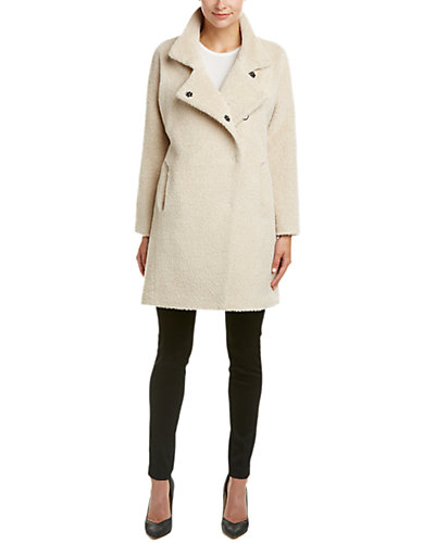 Trina Turk Madison Alpaca-Blend Asymmetrical Coat