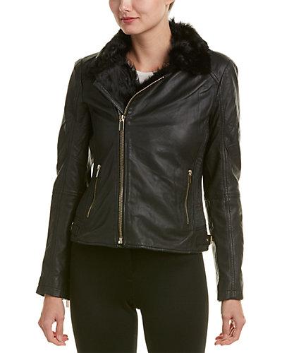 Badgley Mischka Irina Leather Jacket