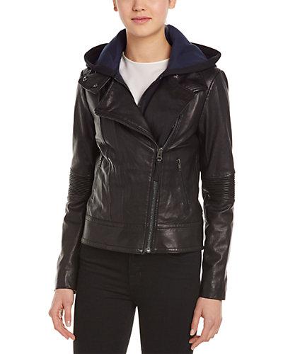 Mackage Dalena Leather Bomber Jacket