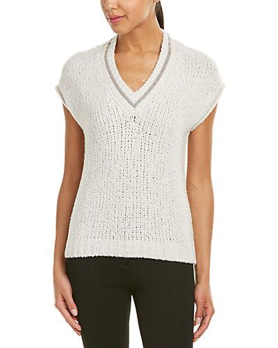 Brunello Cucinelli Wool-Blend V-Neck Sweater