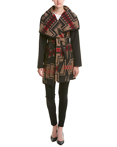 Pendleton Nez Wool Wrap Coat