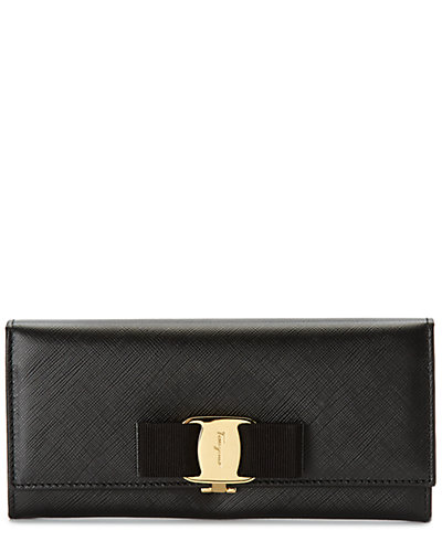 Salvatore Ferragamo Vara Bow Leather Continental Wallet