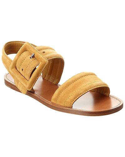 MIU MIU Suede Buckle Sandal