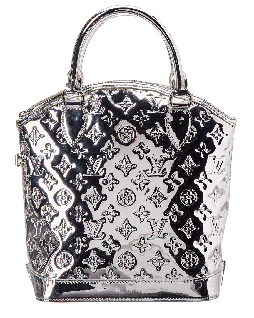 6e0fe9acc877 Louis Vuitton Limited Edition Silver Monogram Miroir Leather Lockit ...