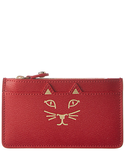 Charlotte Olympia Feline Leather Coin Purse