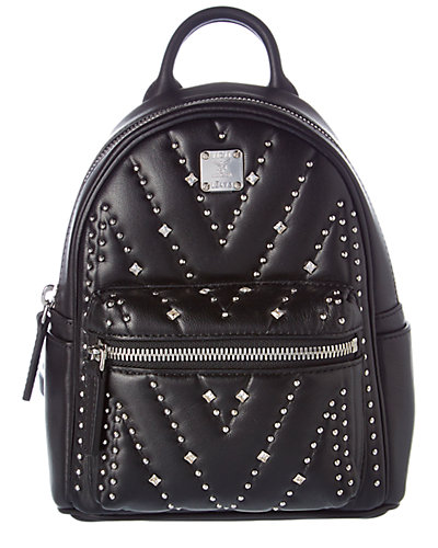 MCM Diamond Disco X-Mini Studded Leather Backpack