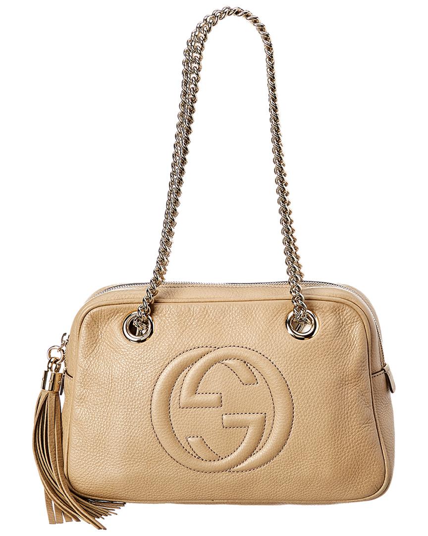 cb7617a0811 Gucci beige leather chain soho bag ebay jpg 864x1080 Gucci soho clutch with  chain