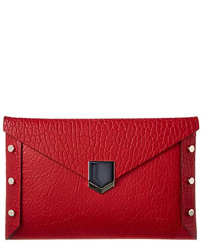 Jimmy Choo Lockett Leather Envelope Clutch