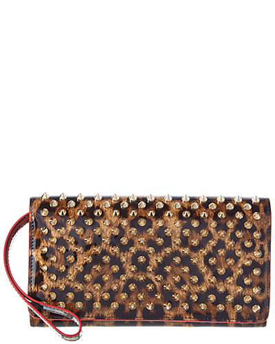 Christian Louboutin Macaron Studded Patent Continental Wallet