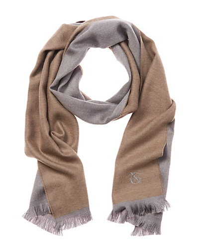 Canali Wool Reversible Scarf