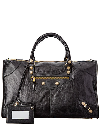 Balenciaga Giant 12 Gold Work Leather Shoulder Bag