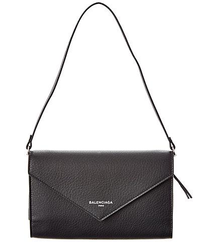 Balenciaga Papier Leather Zip Around Money Wallet
