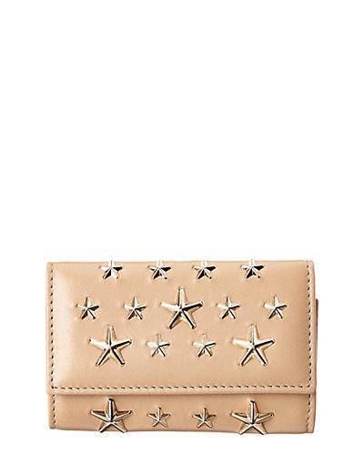 Jimmy Choo Neptune Star Studded Leather Card Case