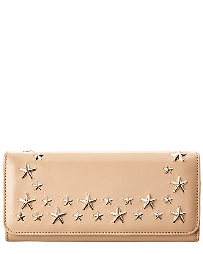 Jimmy Choo Nino Star Studded Leather Continental Wallet