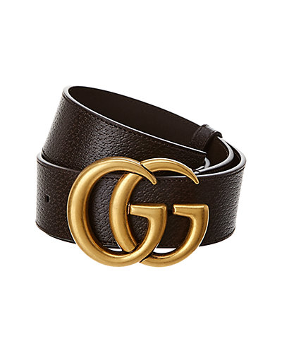 Gucci Double G Buckle Leather Belt by Gucci