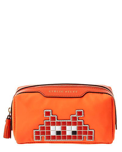 Anya Hindmarch Space Invaders Girlie Stuff Nylon & Leather Travel Case