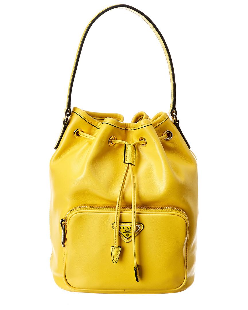 0953885b1fa80a Prada Mini Leather Bucket Bag 8056382948074 | eBay