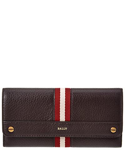 Bally Binney Stripes Leather Wallet