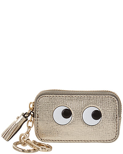 Anya Hindmarch Eyes Metallic Leather Coin Purse