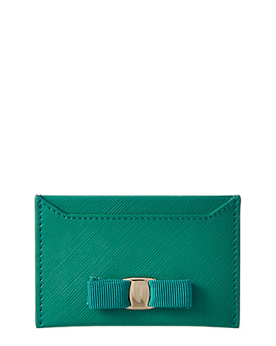 Salvatore Ferragamo Miss Vara Leather Card Case
