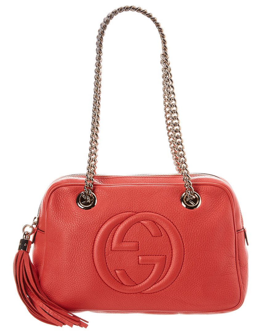 c47213791d40c Gucci Pink Leather Soho Chain Shoulder Bag