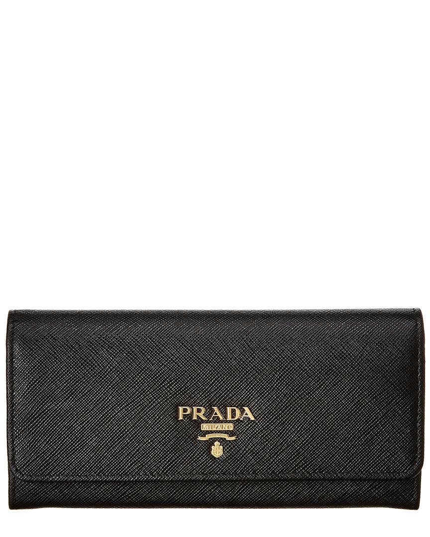 03b854171d2b28 Prada Womens Saffiano Leather Flap Wallet, Black 8055009292750   eBay