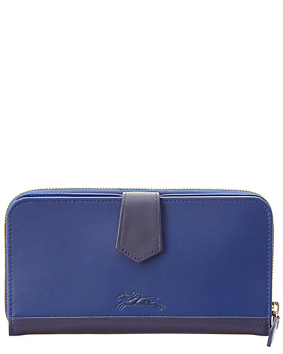 Longchamp 2.0 Zip Around Leather Wallet