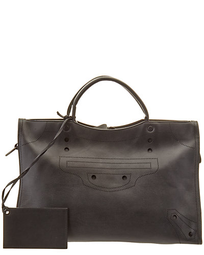 Balenciaga Blackout City Medium Leather Satchel