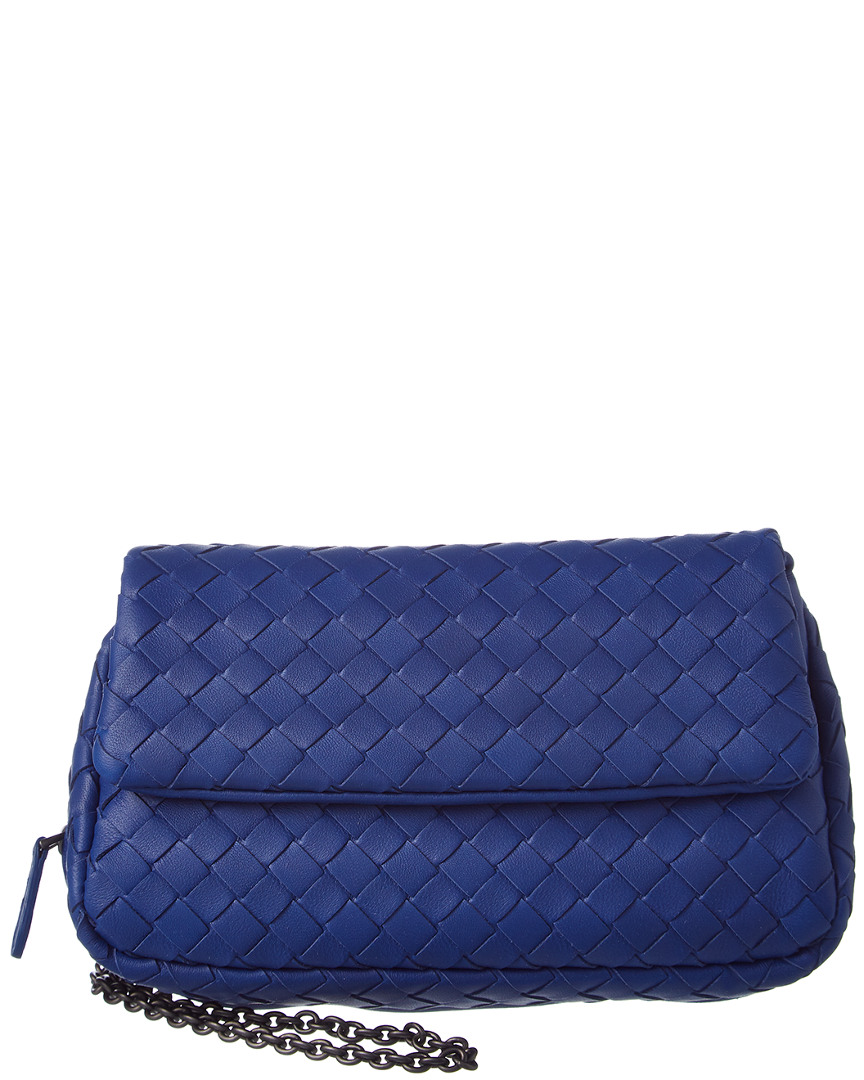 Bottega Veneta cobalt Intrecciato nappa mini messenger bag