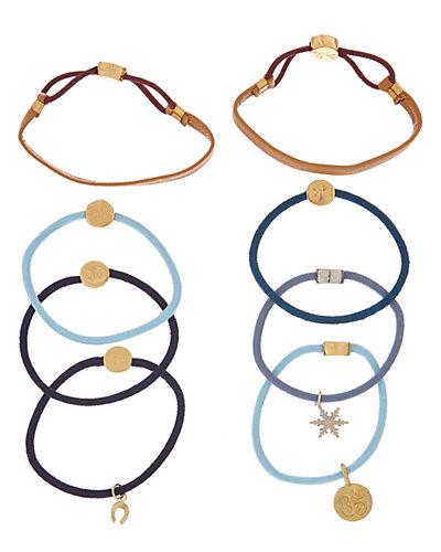 By Lilla 8pk Baby Blues Hair Tie Bracelets