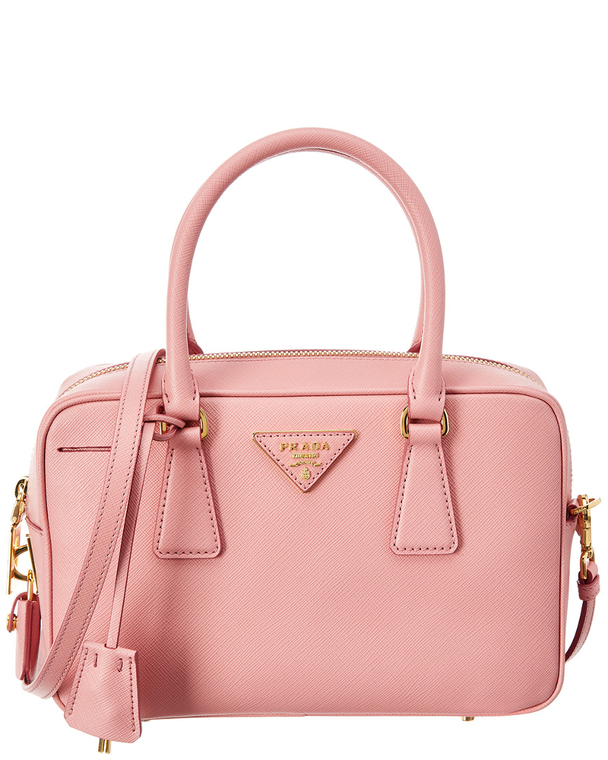 SMALL SAFFIANO LEATHER BOWLING BAG