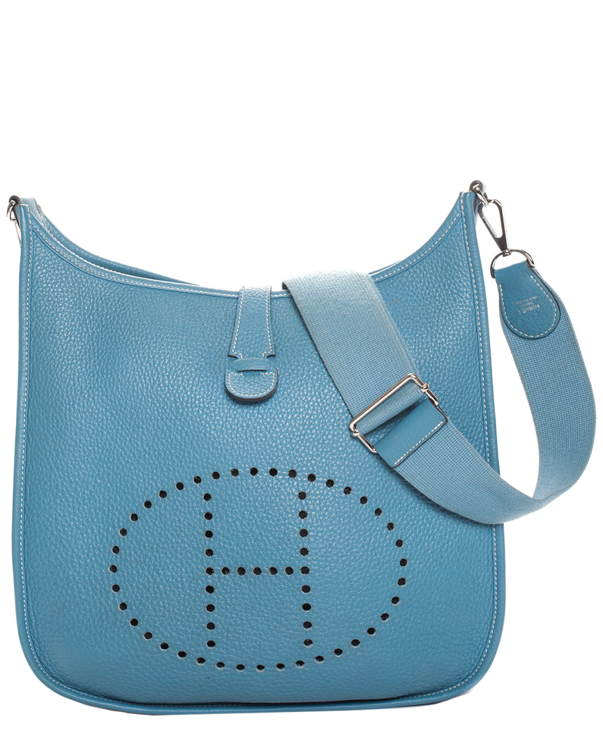 Blue Clemence Leather Evelyn Iii Pm, Nocolor