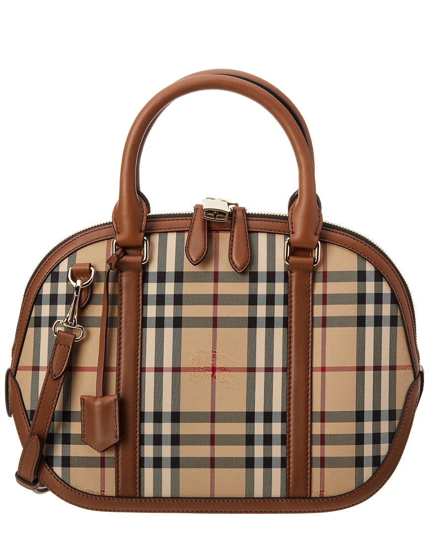 SMALL ORCHARD HORSEFERRY CHECK SATCHEL
