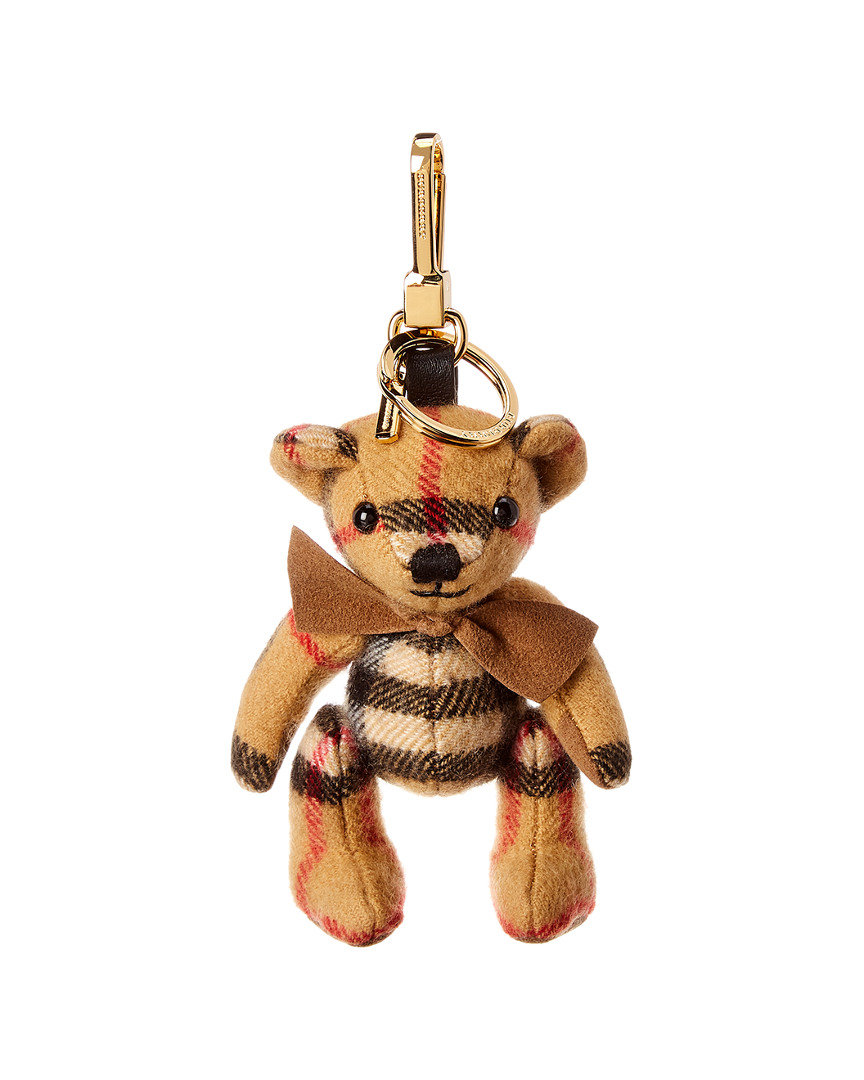 27116b417 Burberry Womens Thomas Bear Vintage Check Cashmere & Leather Charm ...