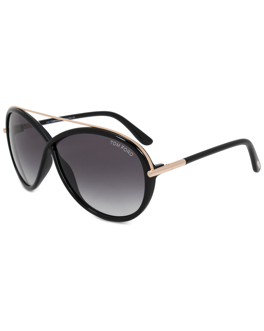 TAMARA OVAL SUNGLASSES FT0454 01B 64 64MM SUNGLASSES