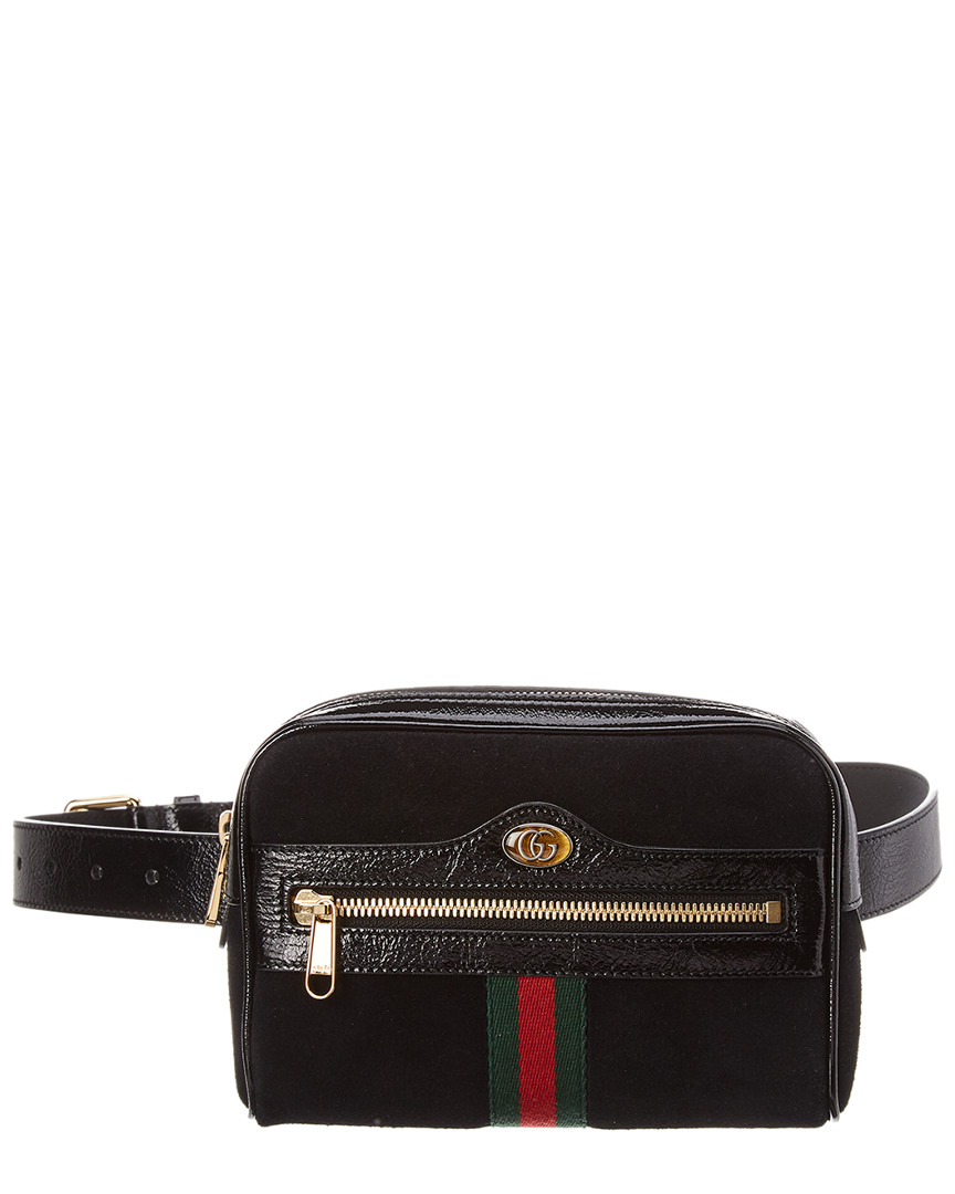 fc77c74f587 Details about Gucci Ophidia Small Suede & Leather Belt Bag Women's