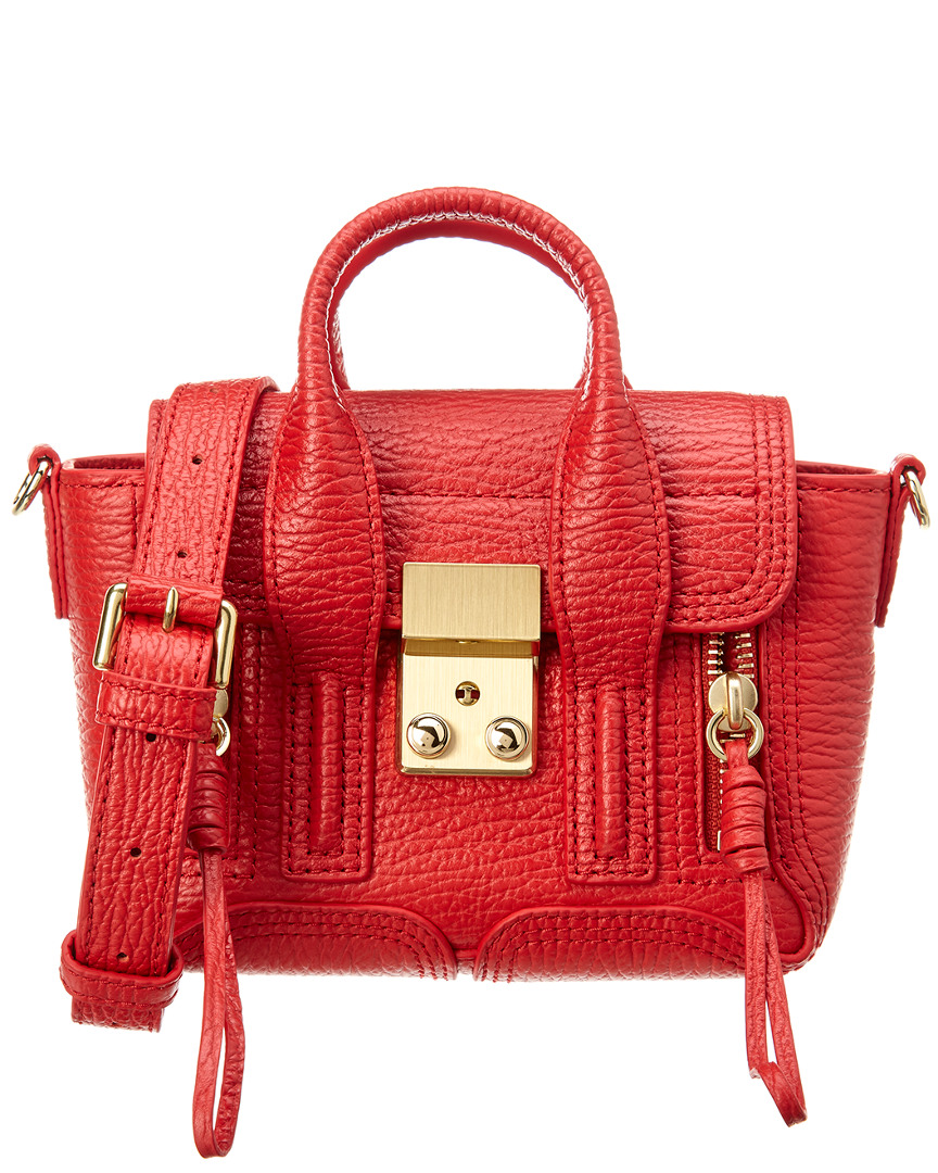 3.1 Phillip Lim Pashli Nano Leather Satchel In Red  4e7697fc7